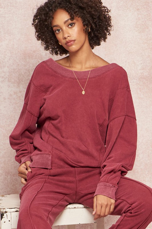 Front-to-Back Reversible Twisted Sweatshirt
