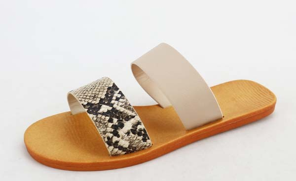 Bamboo Double Panels Slide on Sandals