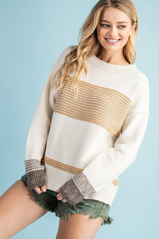 MIXED STRIPE SWEATER