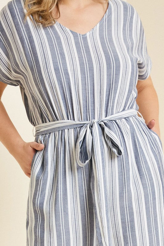Plus Stripped Palazzo Jumper