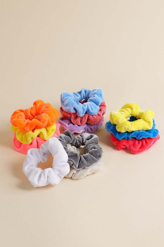 Assorted Velvet Scrunchies
