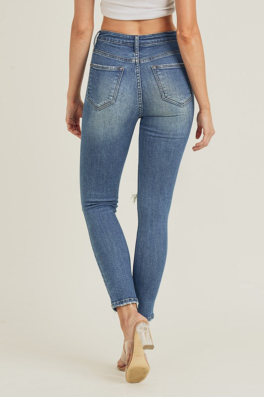 HW KNEE DISTRESSED SKINNY