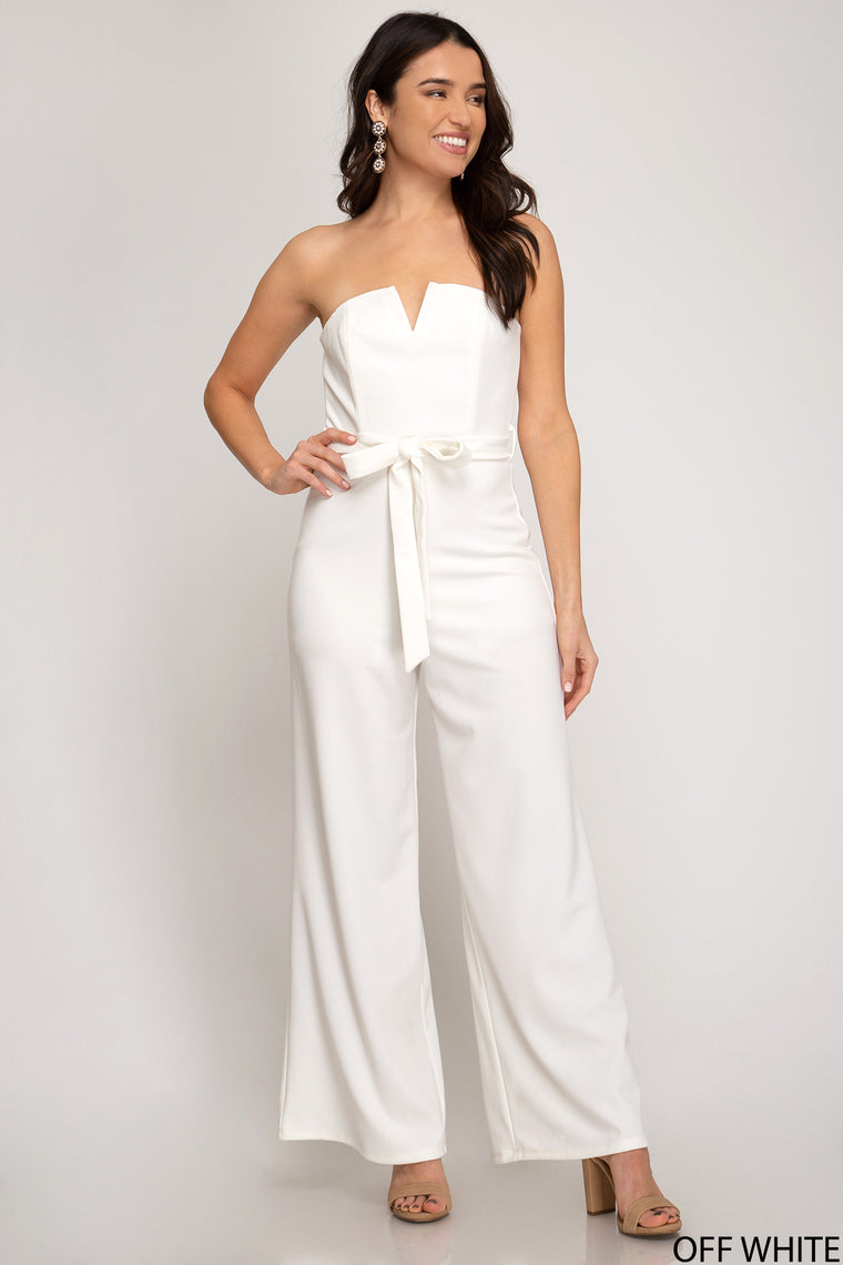 HEAVY KNIT STRAPLESS JUMPSUIT
