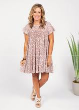 Curvy Spotted Ruffled Dress