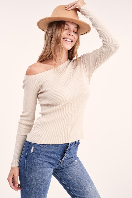 Eva One shoulder top