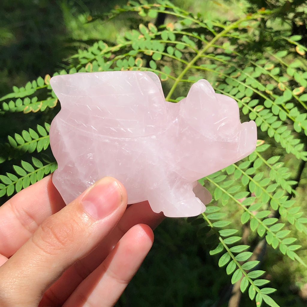 Rose Quartz Flying Pig