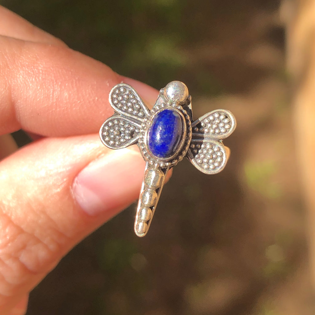 Lapis Lazuli Sterling Silver Ring 5.75 (L)