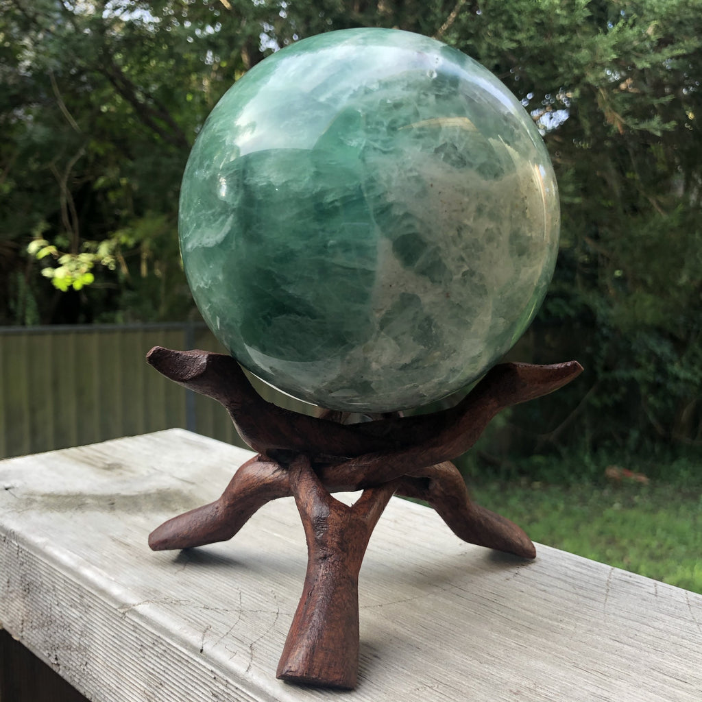 Wooden Tripod Pointy Sphere Stand