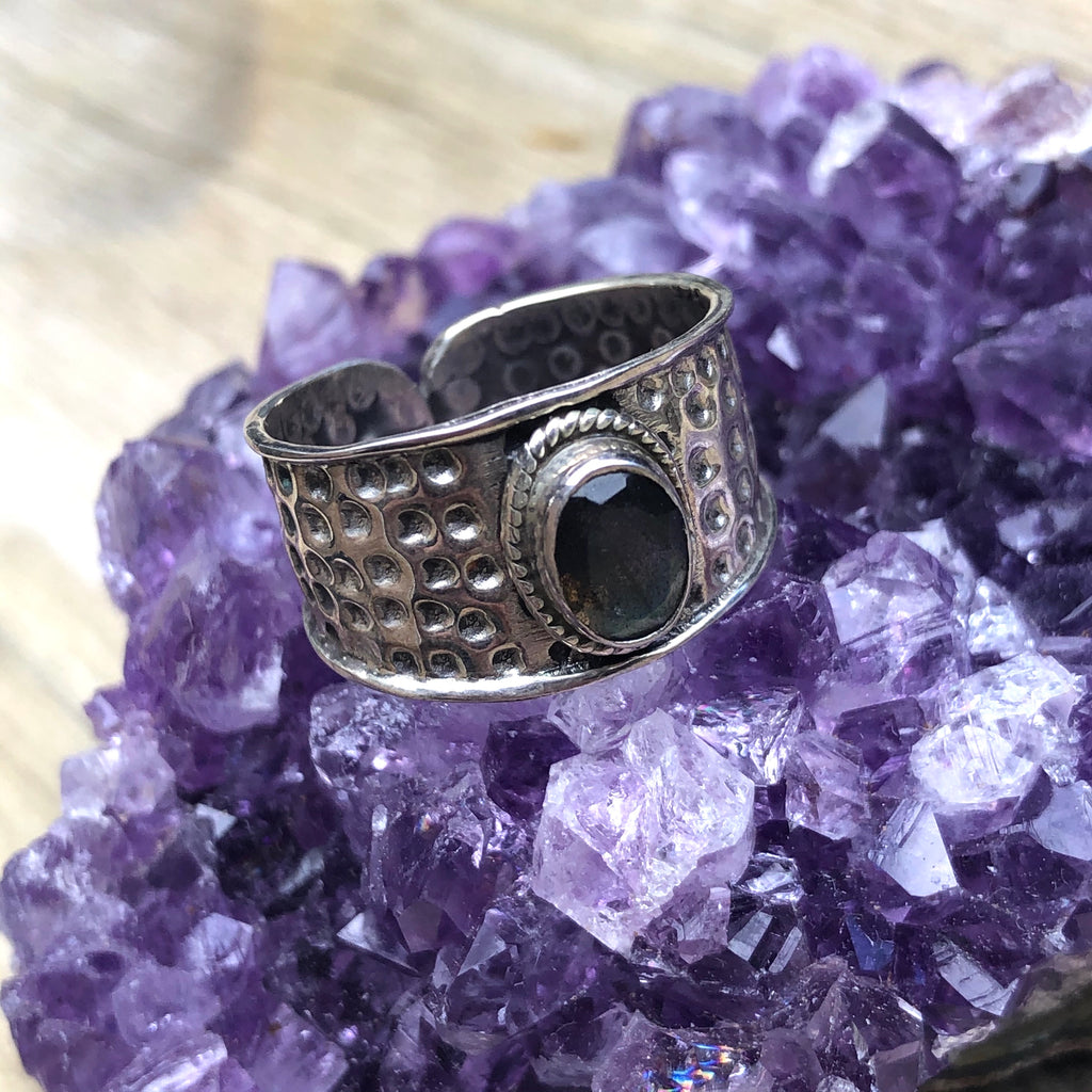 Labradorite Sterling Silver Ring 8 or P.5