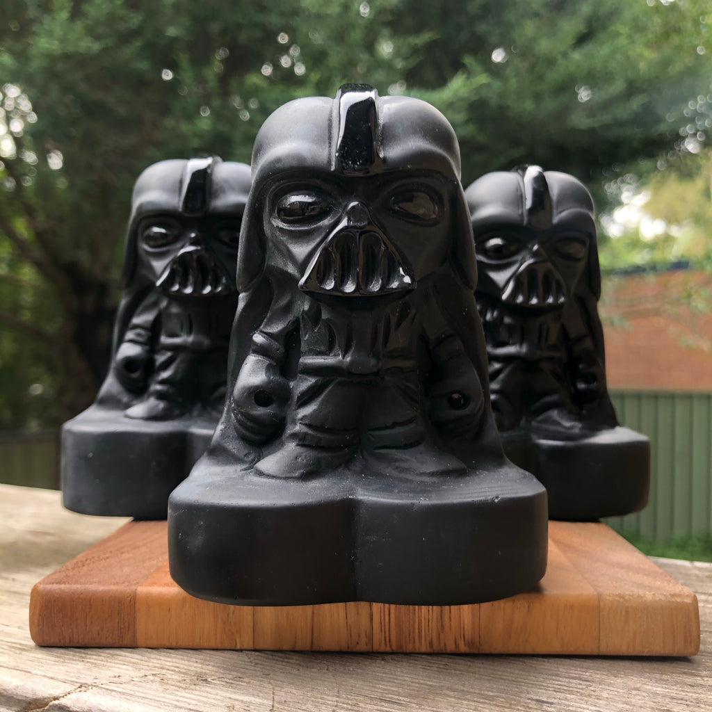Black Obsidian Darth Carving