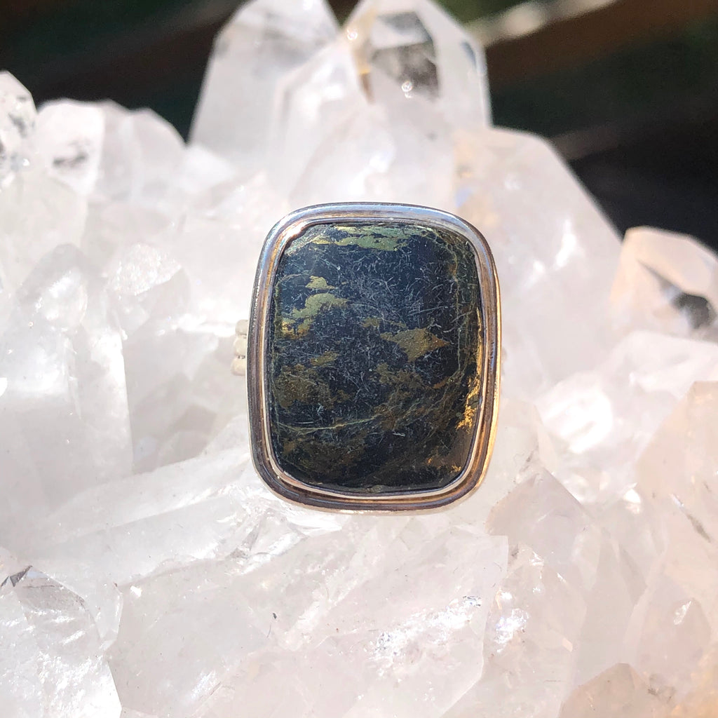 Healers Gold Sterling Silver Ring 8.5 or R