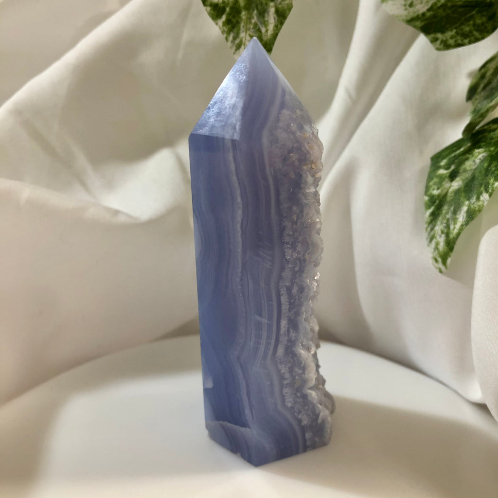 Blue Lace Agate Generator with Druzy