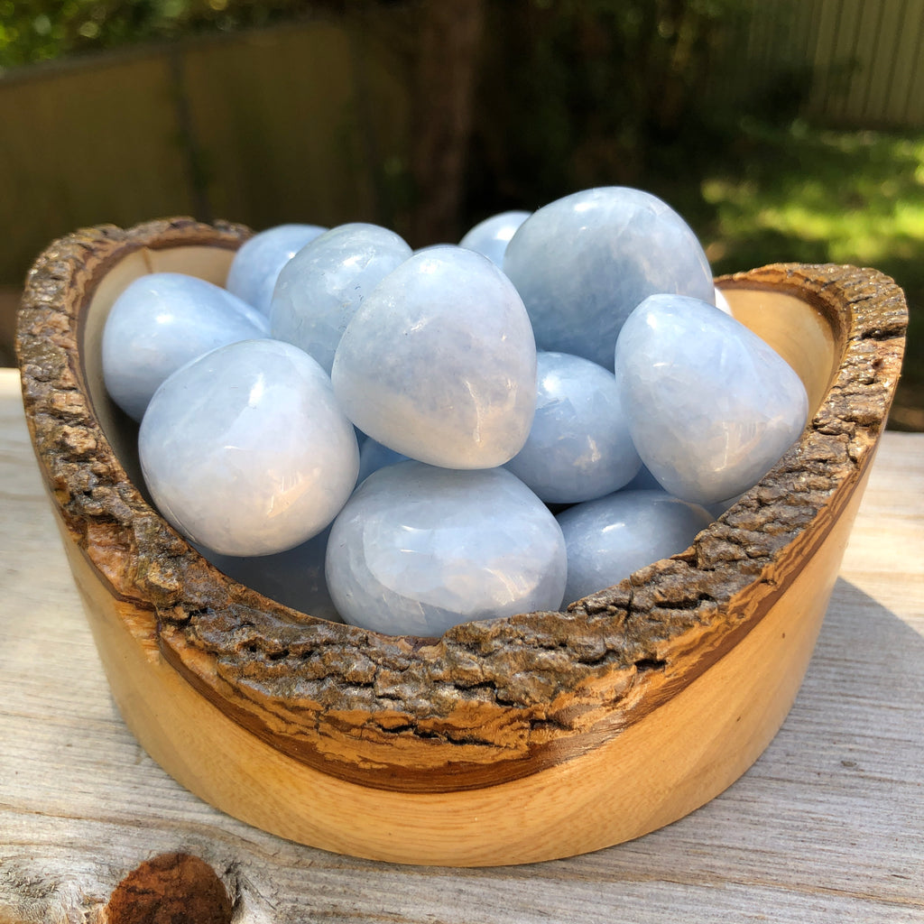 Blue Calcite Tumbles