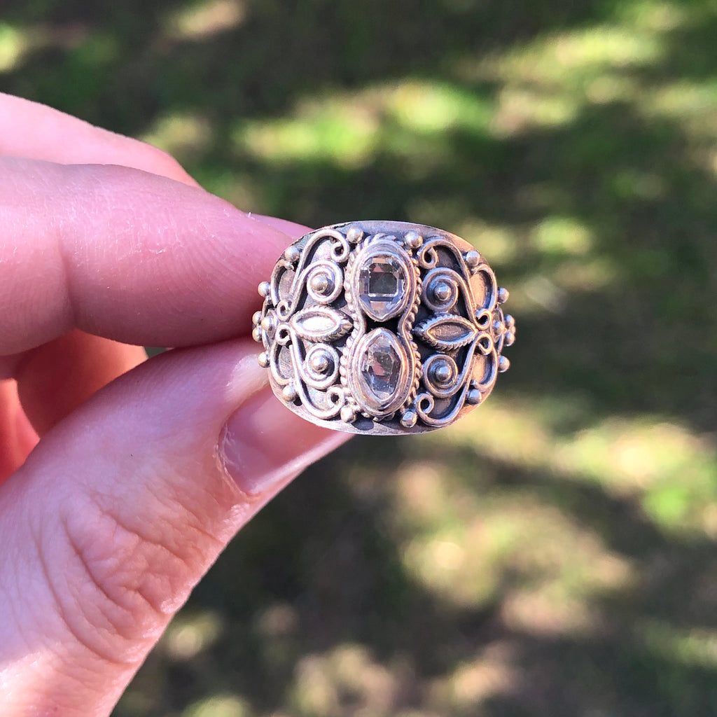 Herkimer Sterling Silver Ring 7.25 (O)