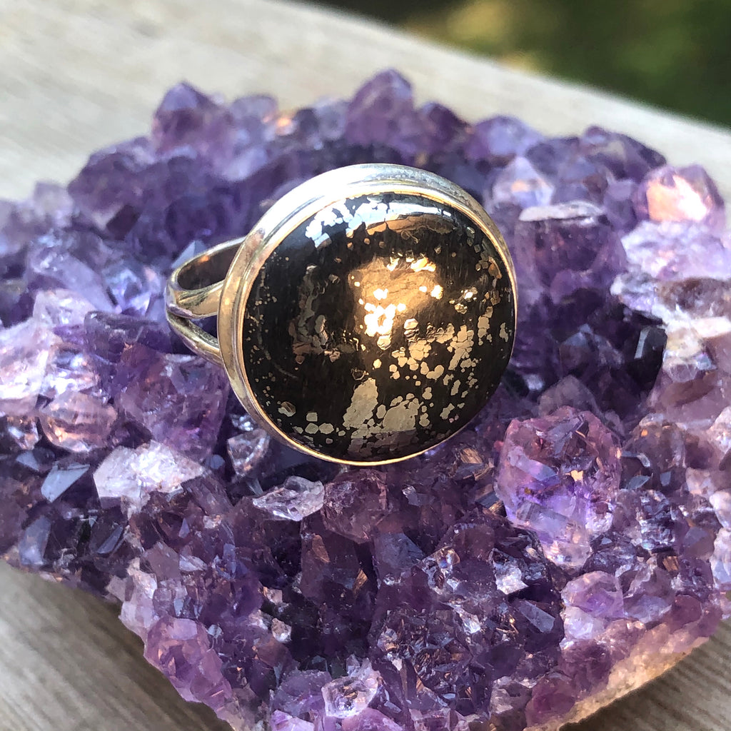 Healers Gold Sterling Silver Ring 11 (W)