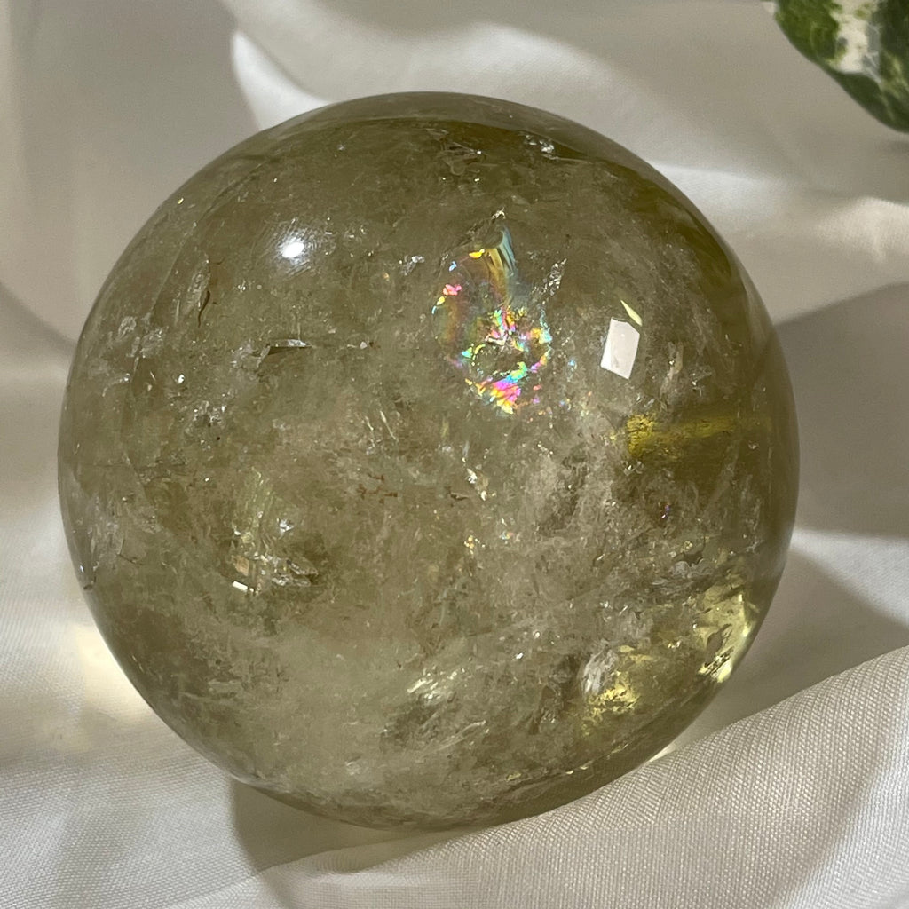 Citrine Smoky Quartz Sphere - Natural  - Crystaluxe