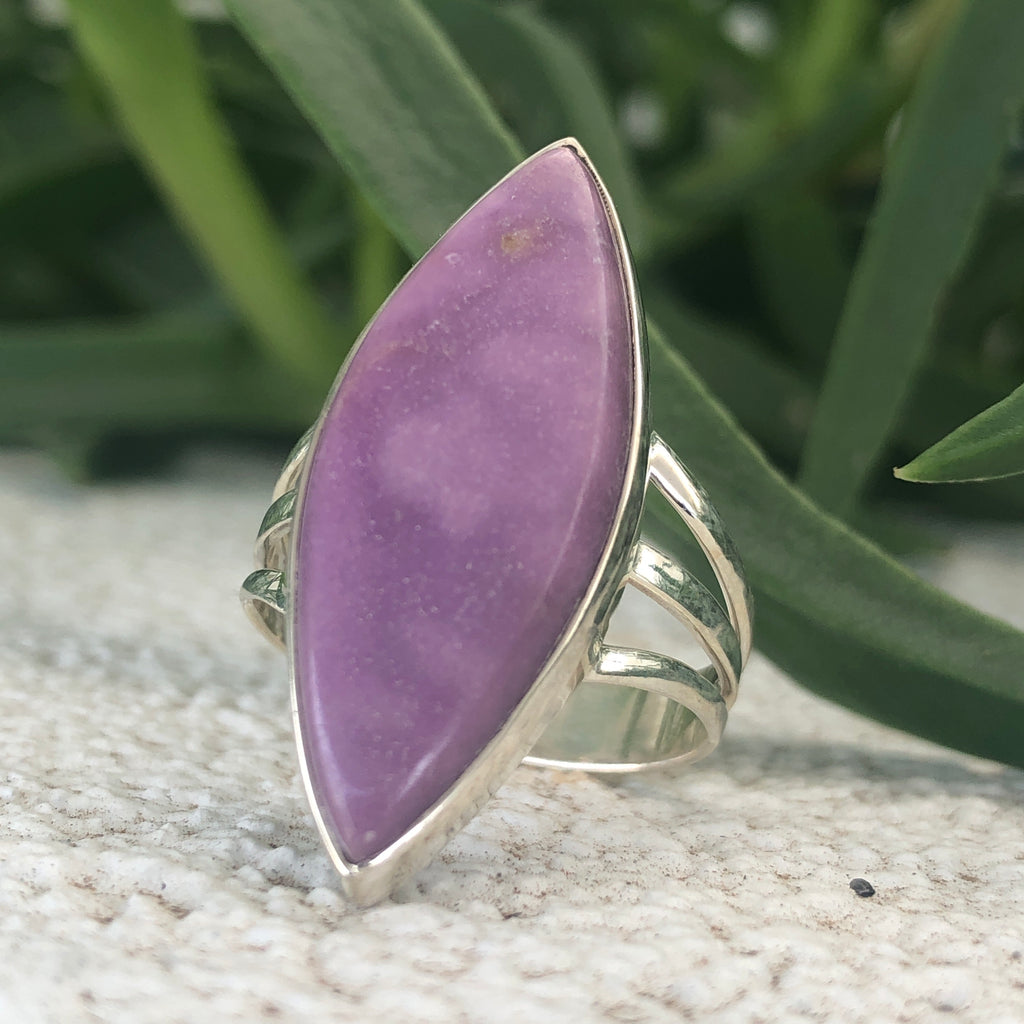 #254 Phosphosiderite Sterling Silver Ring 9.75 (T.5)