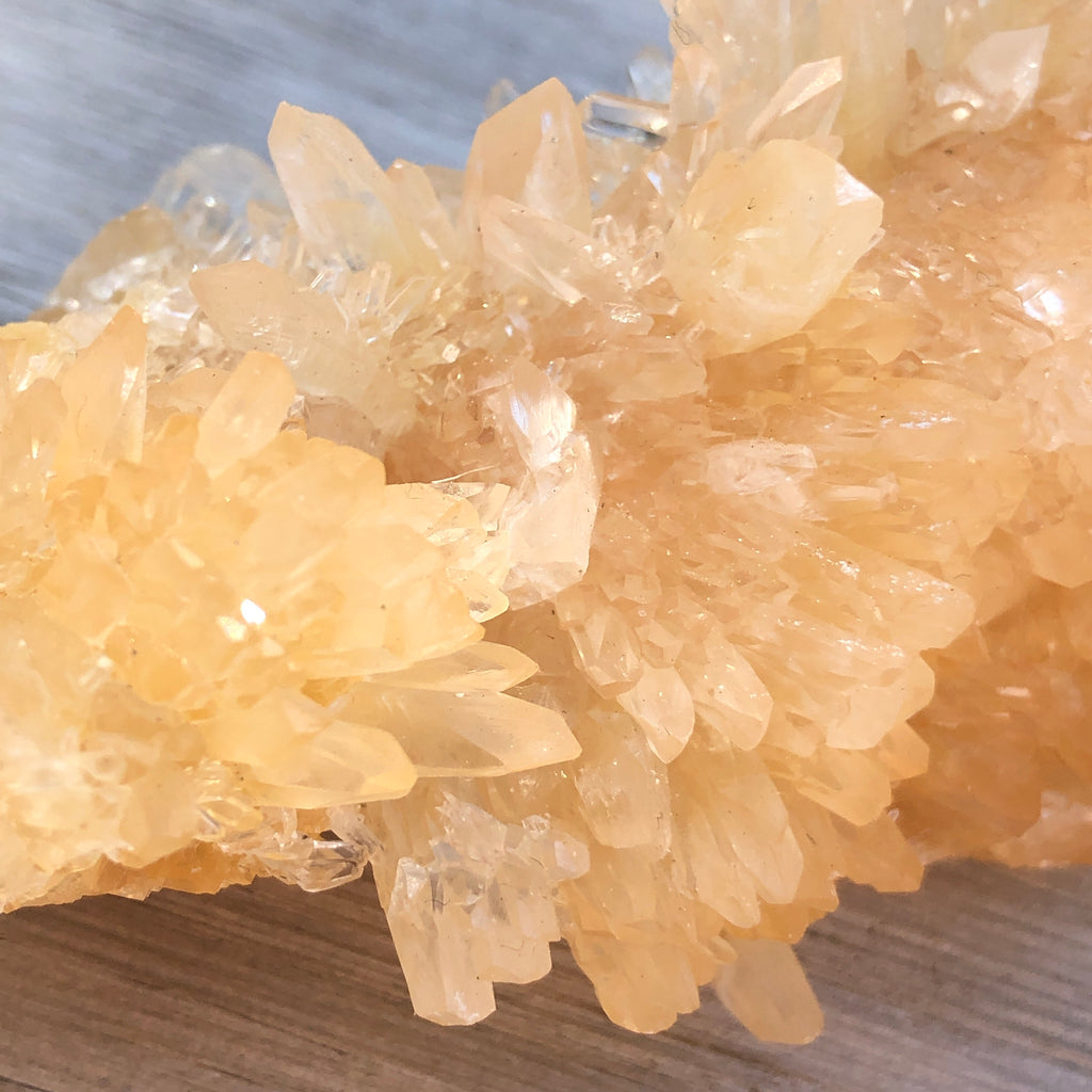 Golden Stellar Beam Calcite Cluster