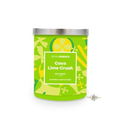 Coco Lime Crush - CANDLE - with Jewellery Surprise - Royal Essence