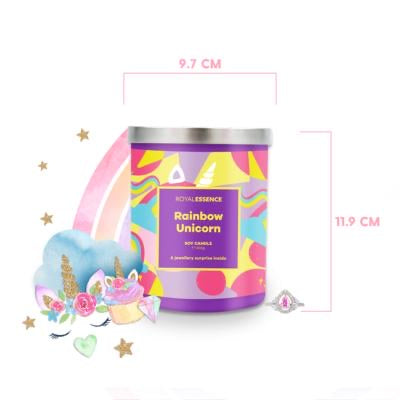 Rainbow Unicorn - CANDLE - with Jewellery Surprise - Royal Essence
