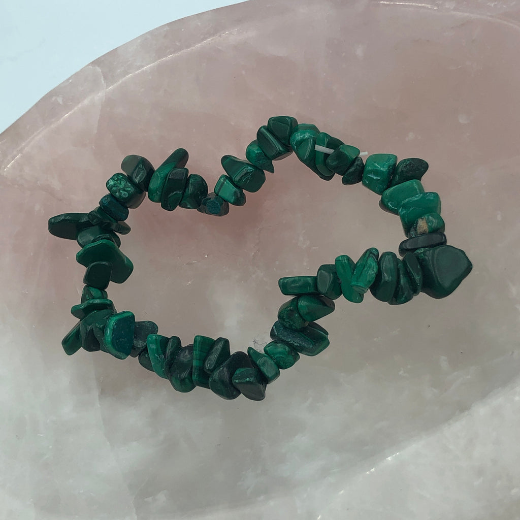 Malachite Chip Bracelets