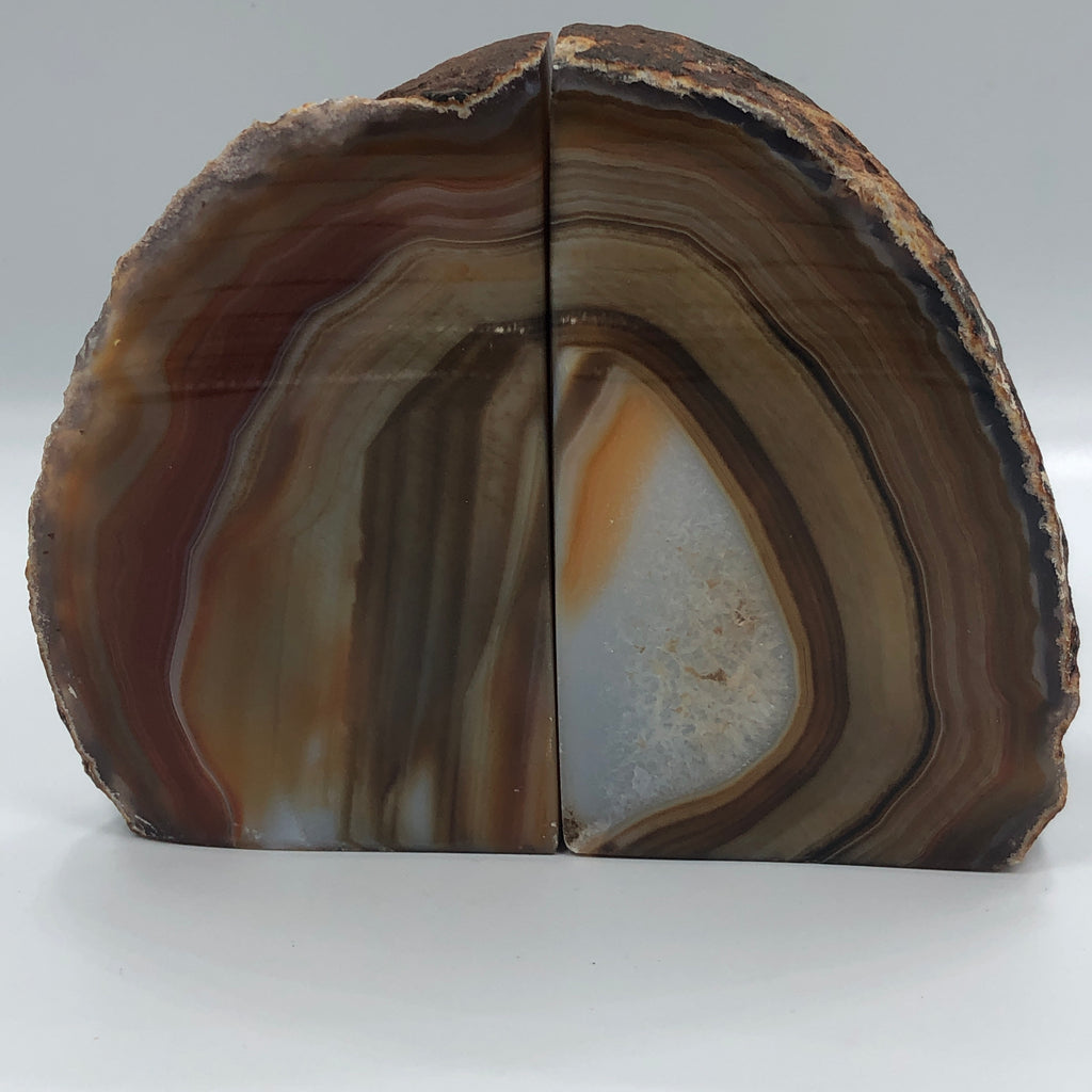 #072 Natural Agate Bookends
