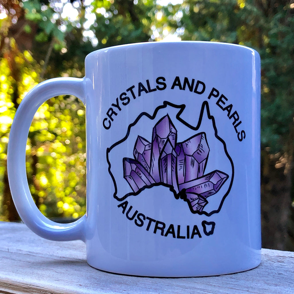 Crystals & Pearls Mug (White)