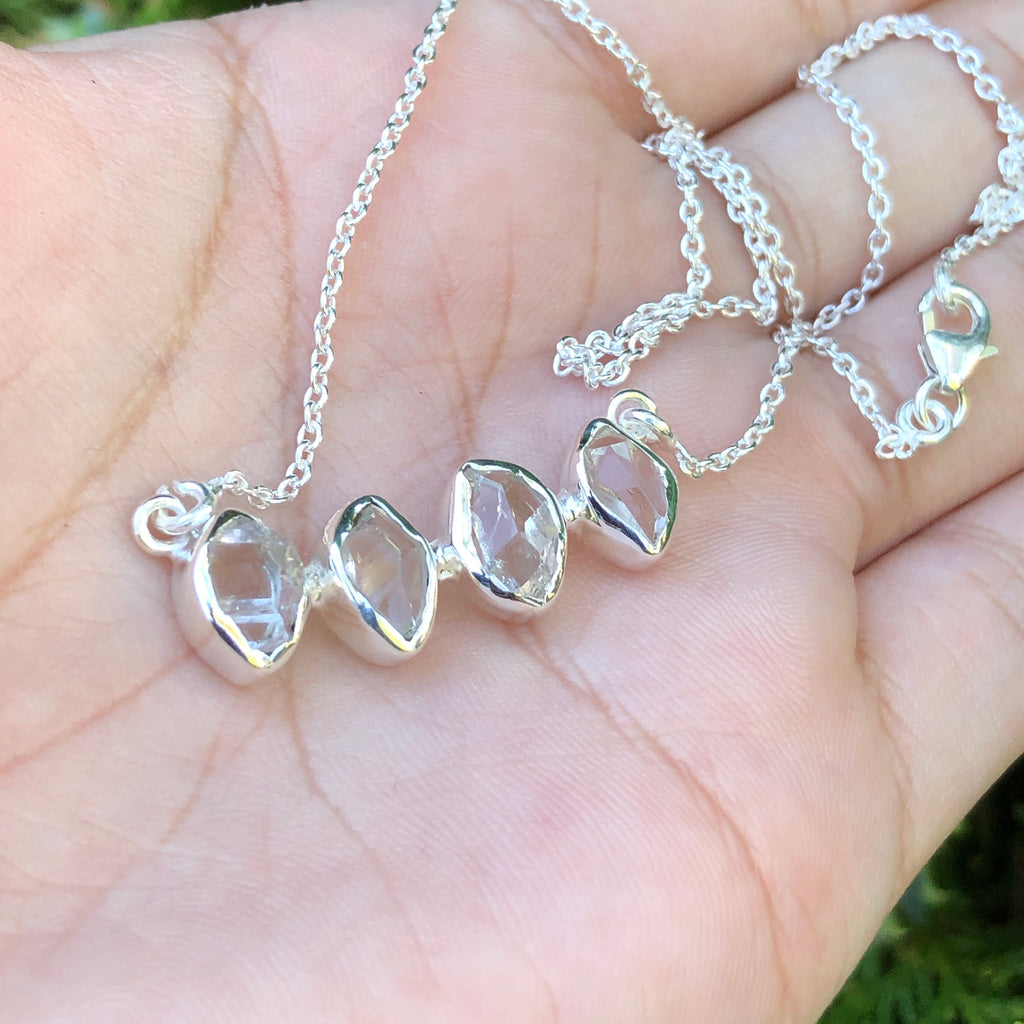 #418 Herkimer Diamond Necklace