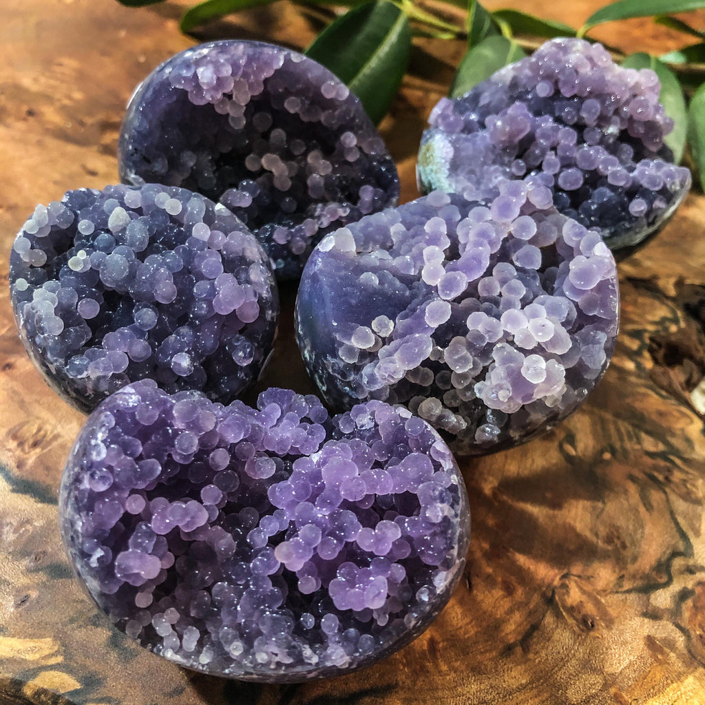 Grape Agate Druzy Eggs