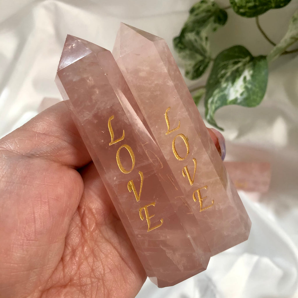 Rose Quartz engraved Love Generator