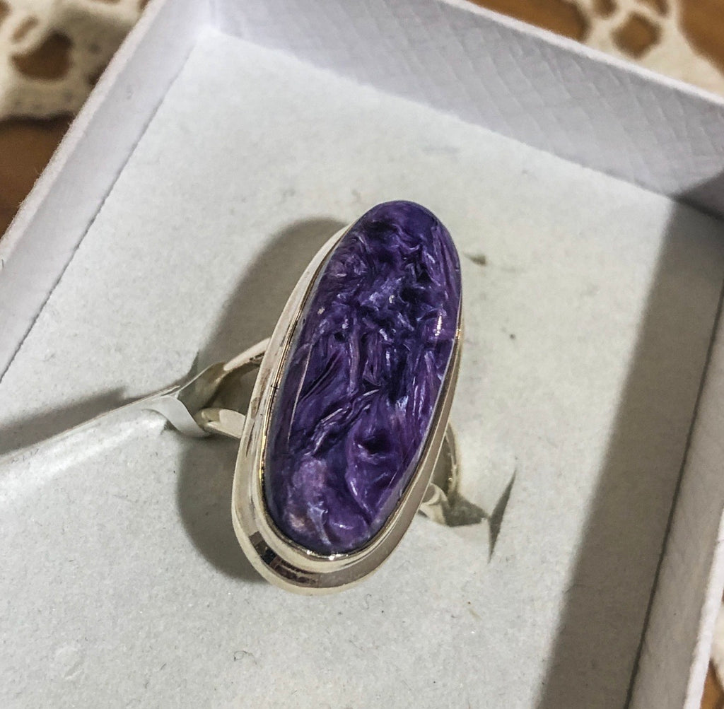 Charoite Silver Ring 7 (N.5)
