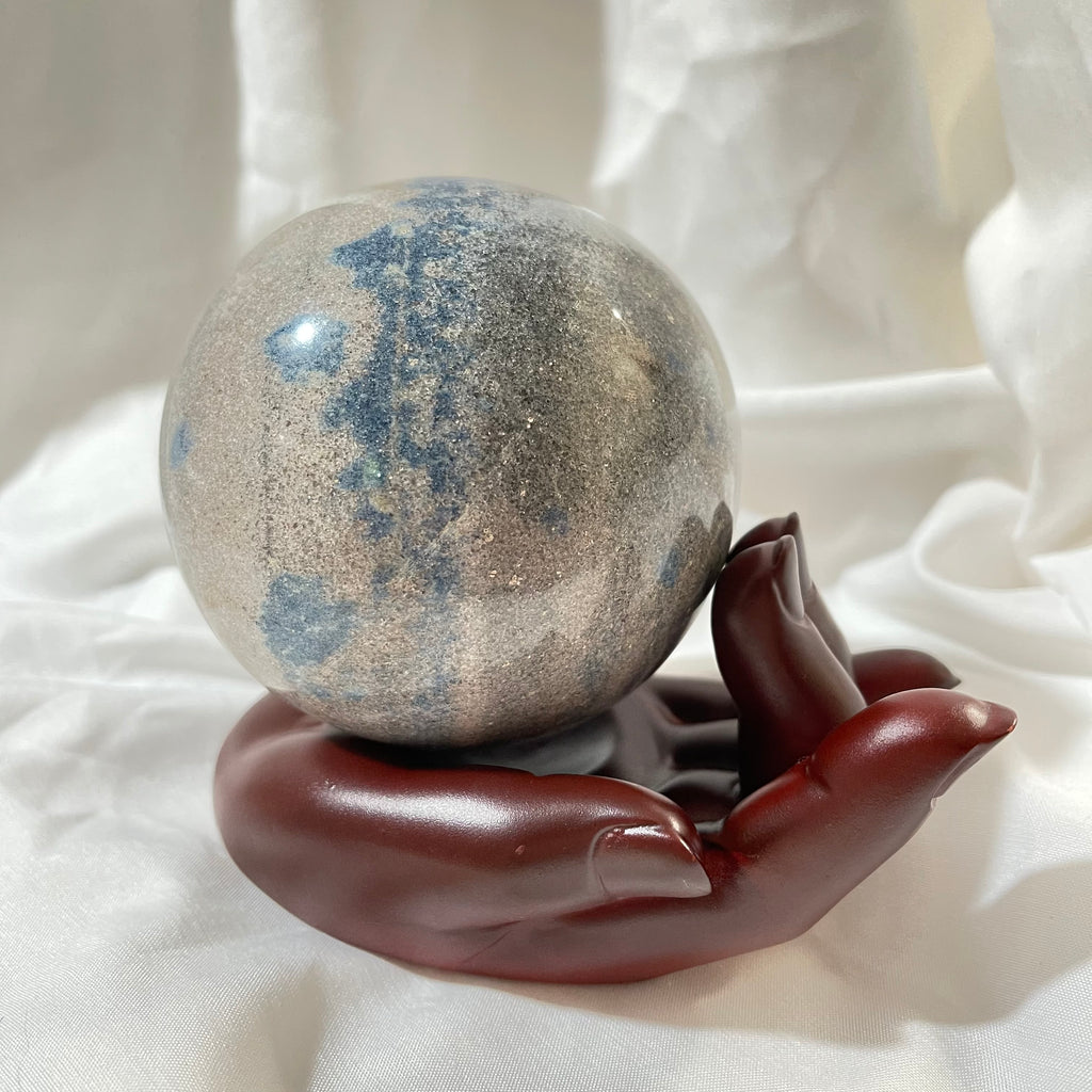 Hand Resin Sphere Stand - Large