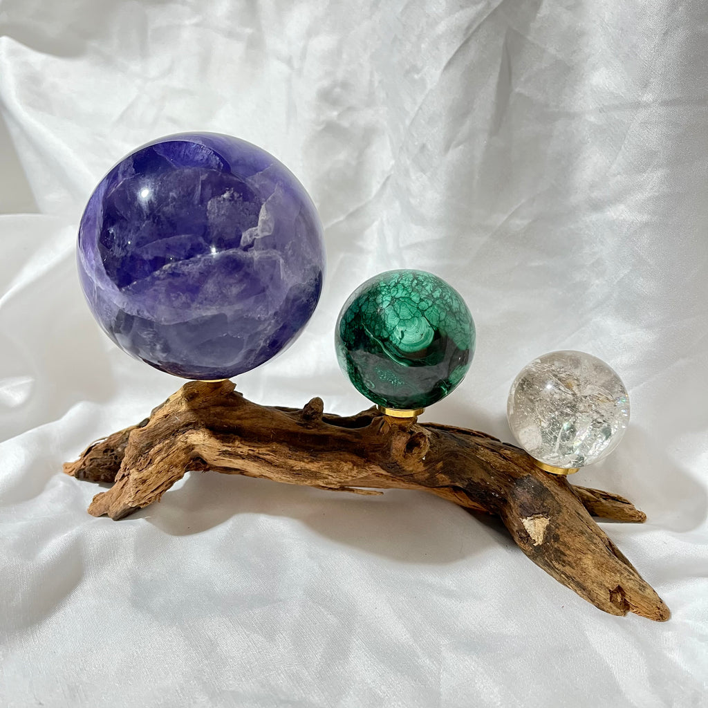Driftwood Multiple Sphere Stand