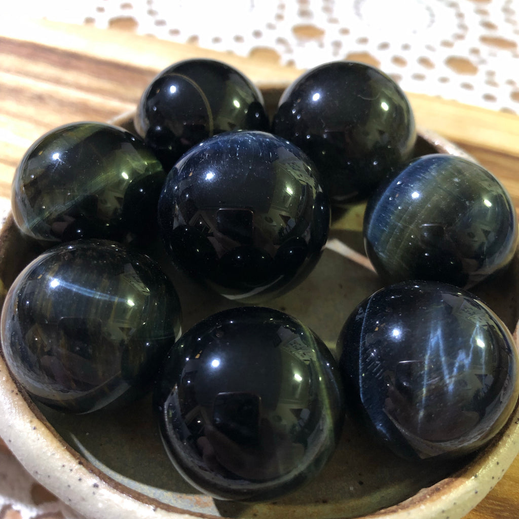 Blue Tigers Eye Mini Sphere