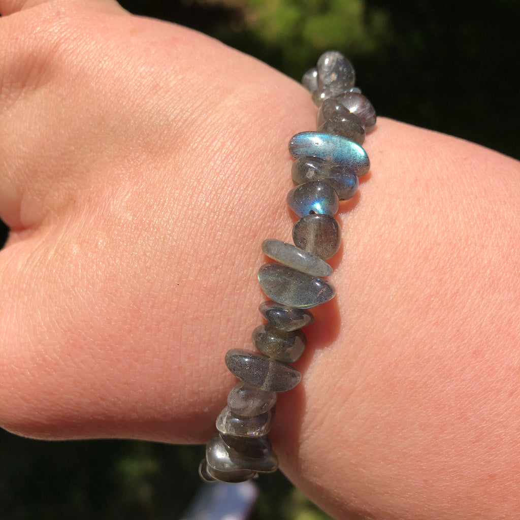 Labradorite Stretchy Bracelet High Grade