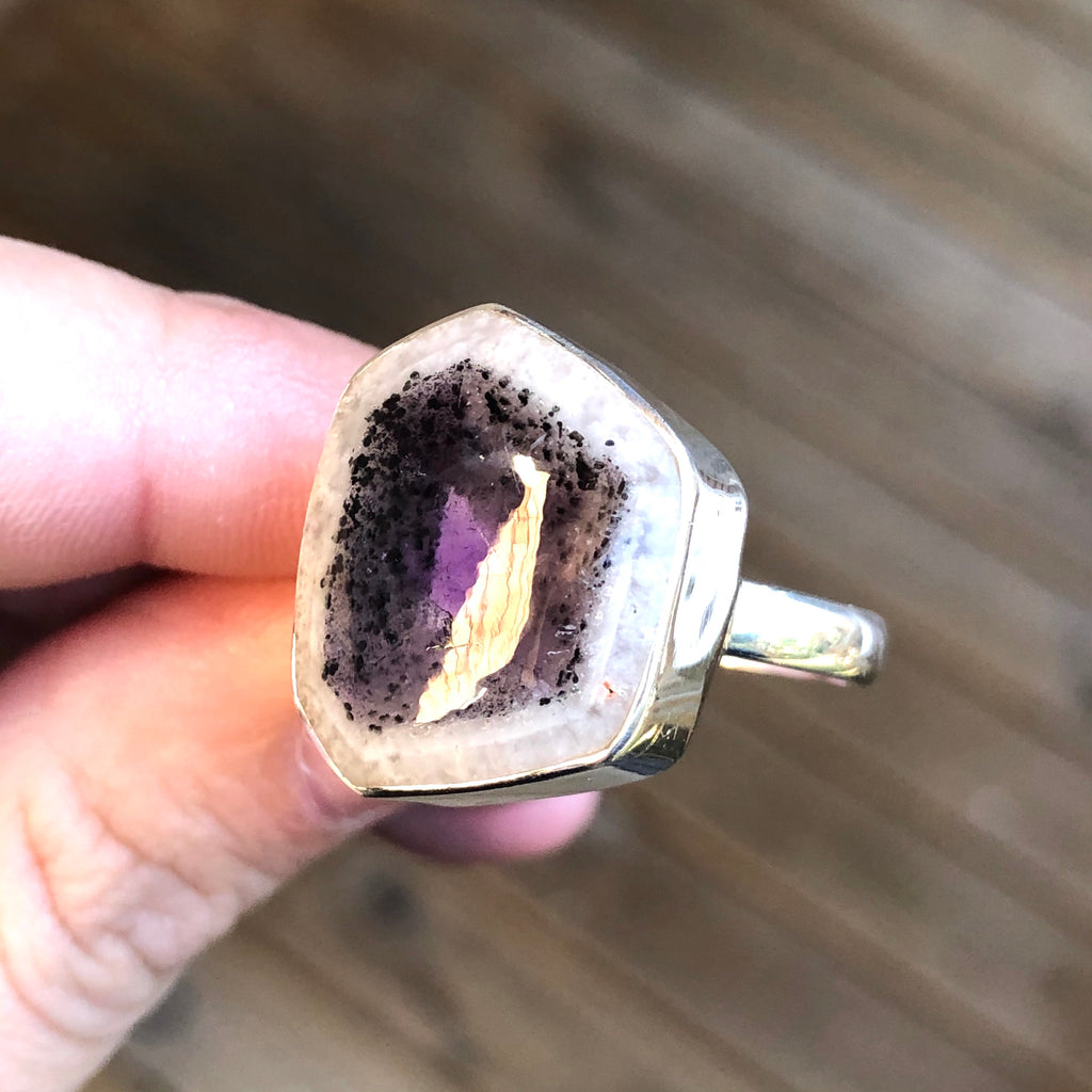 Auralite 23 Sterling Silver Ring 9.5 (T)