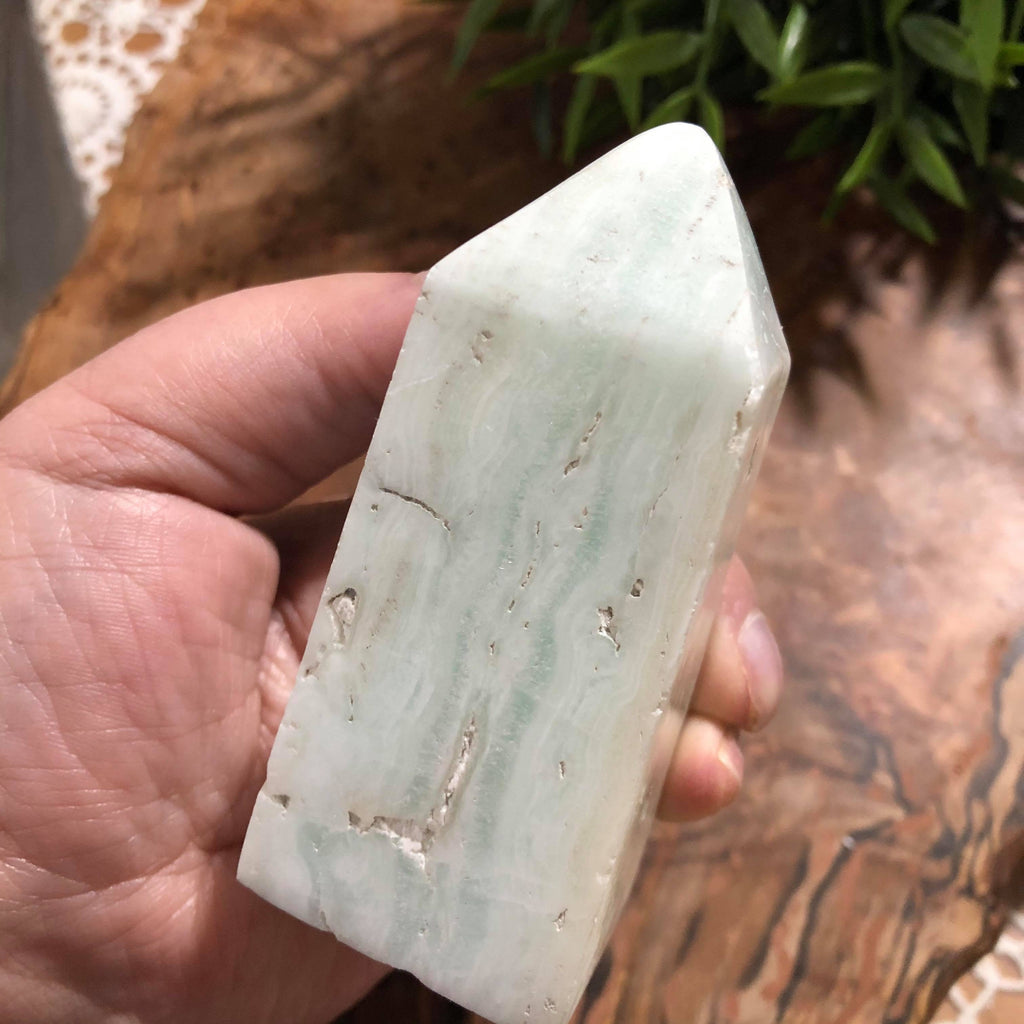 Caribbean Blue Calcite Obelisks