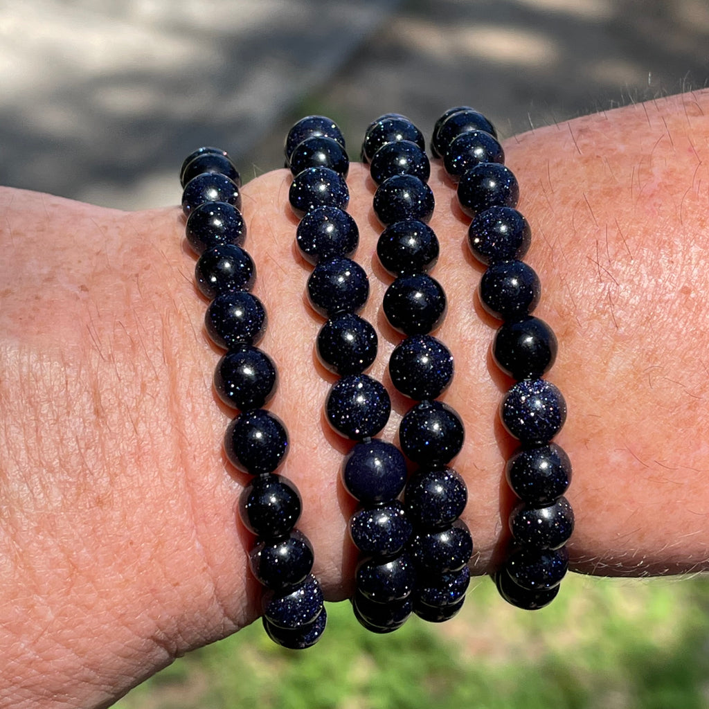 Blue Goldstone Stretch Bracelet