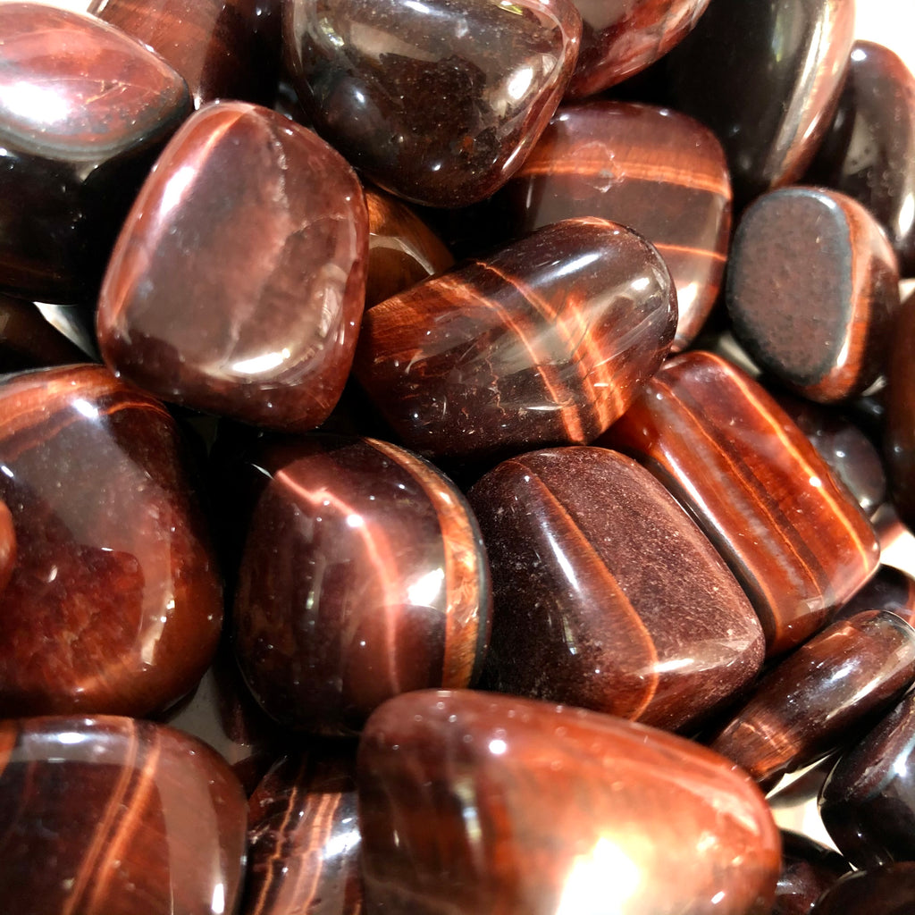 Red Tigers Eye Tumblestones