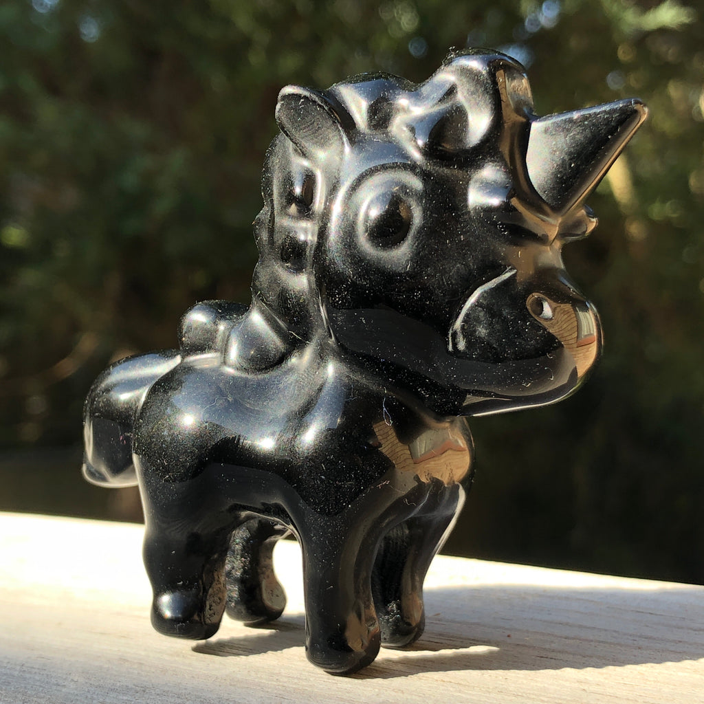 Black Obsidian Cartoon Unicorns