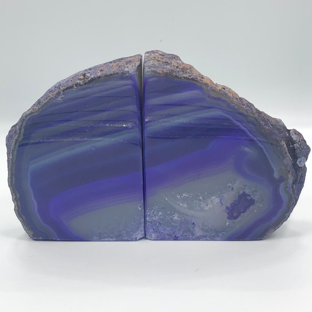 Purple Agate (Dyed) Bookends