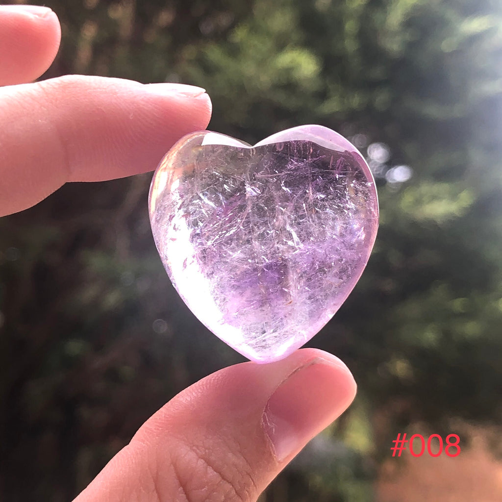 Amethyst Hearts High Grade