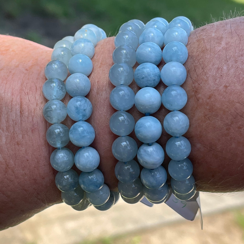 Aquamarine Stretch Bracelet