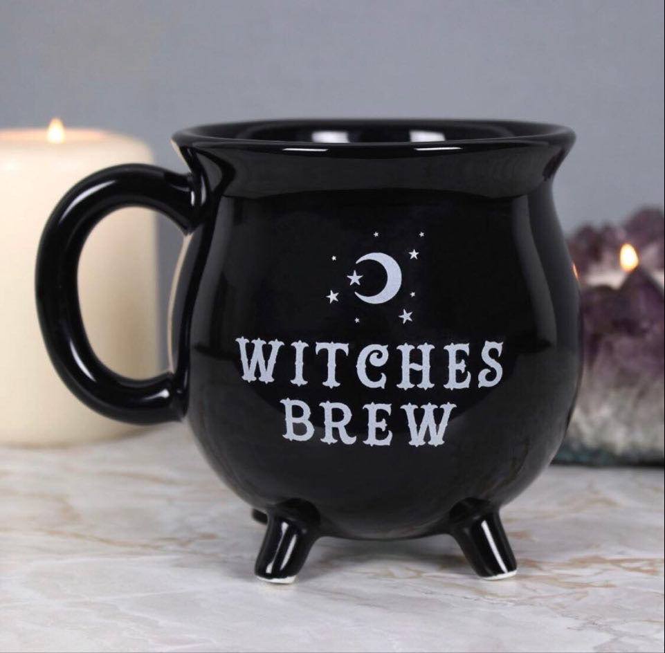 Witches Brew Ceramic Cauldron Mugs