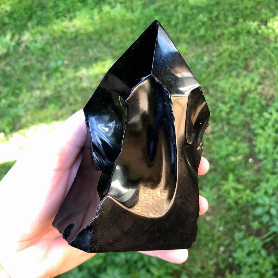 Black Obsidian - Hand-Knapped