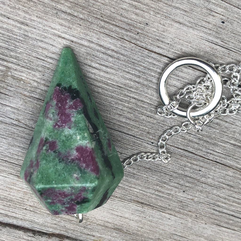 Ruby in Zoisite Pendulums #098