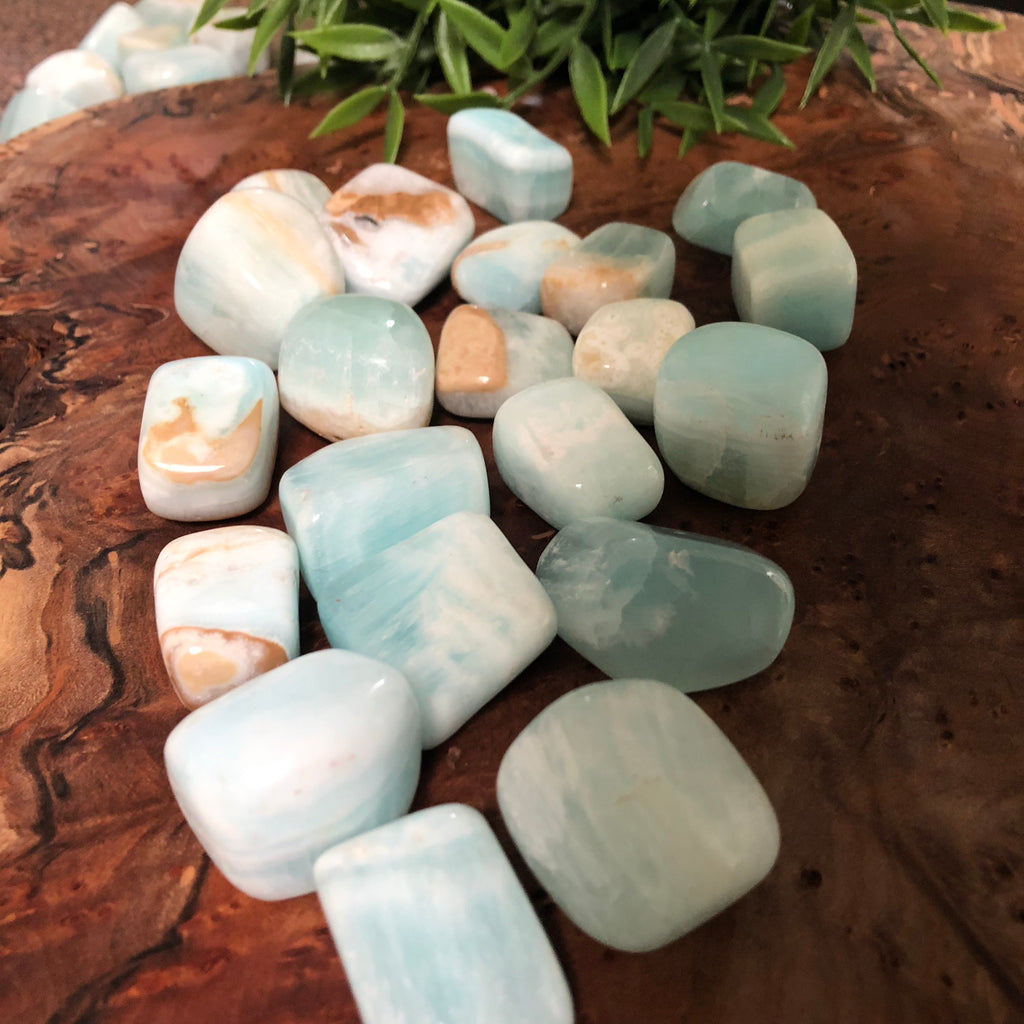 Caribbean Blue Calcite Tumble
