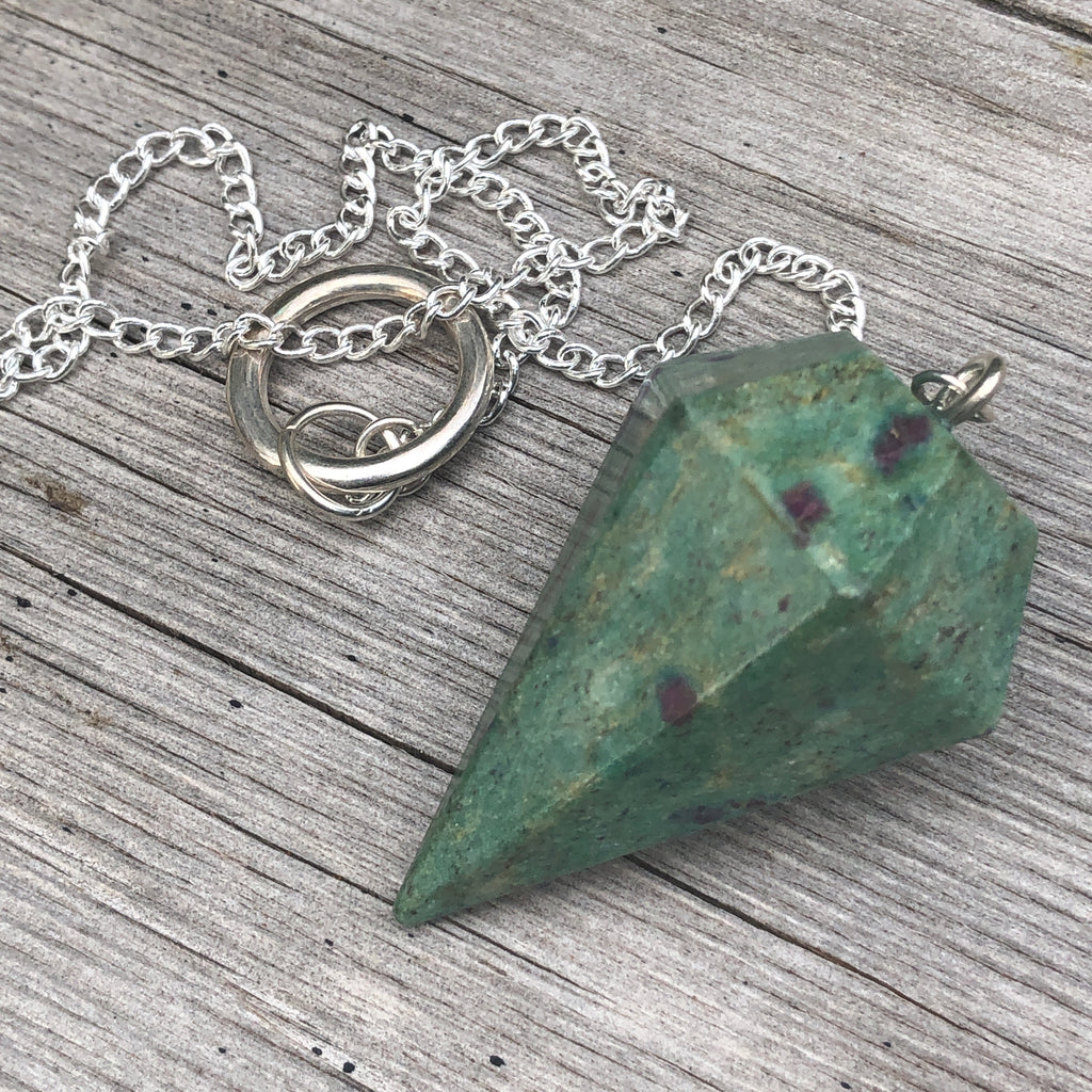 Ruby in Fuchsite Pendulum