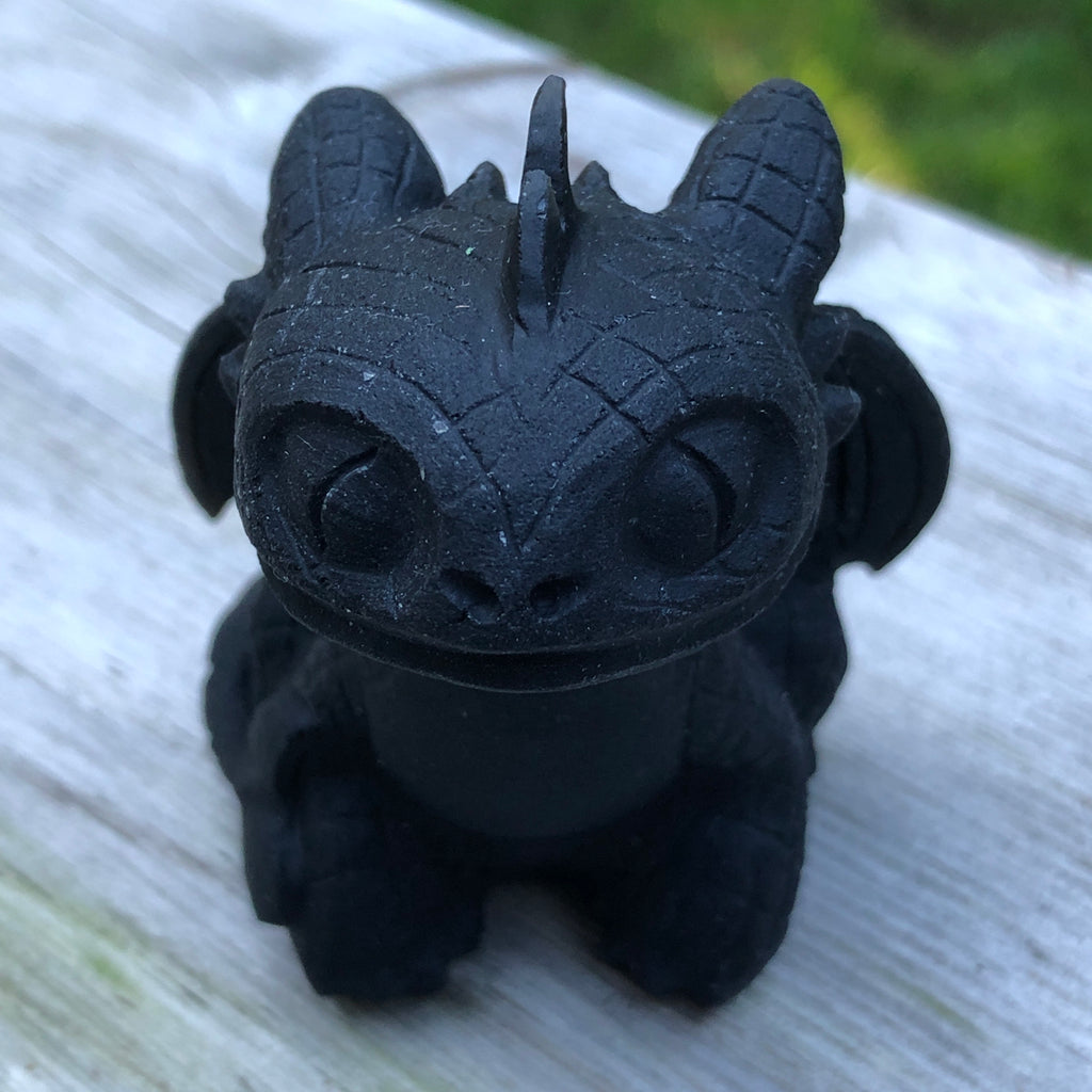 Black Obsidian Matte Dragon