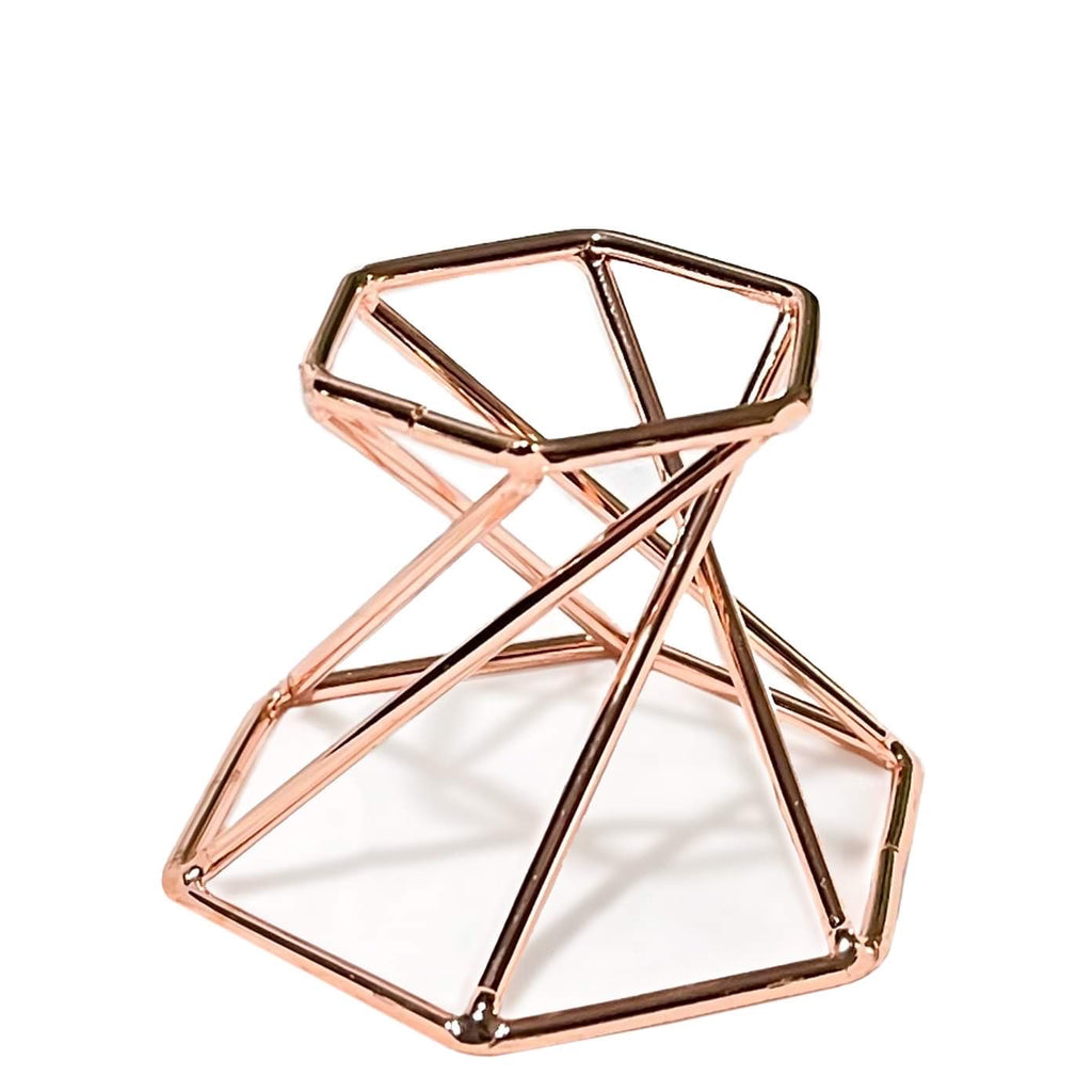 Rose Gold Metal Reversible Sphere Display Stand